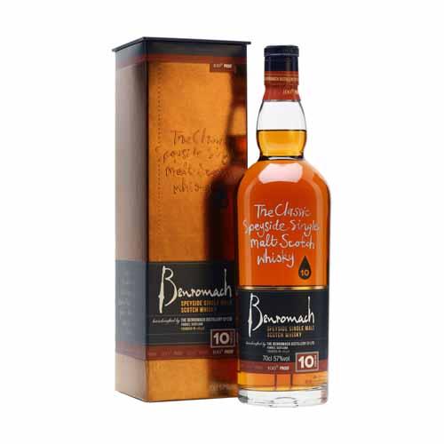 Benromach 10YO 100 Proof is een single malt whisky uit de Speyside, Schotland en is online te koop bij het whiskycollectief van whiskyspecialist Martin Stavleu van Wijnhandel Van Welie uit Gouda