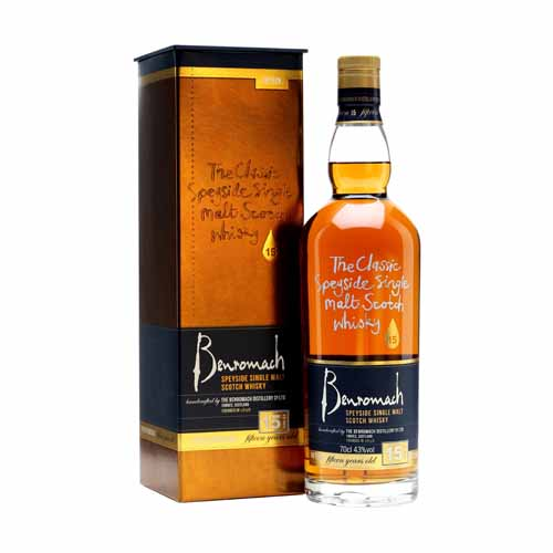 Benromach 15YO is een single malt whisky uit de Speyside, Schotland en is online te koop bij het whiskycollectief van whiskyspecialist Martin Stavleu van Wijnhandel Van Welie uit Gouda